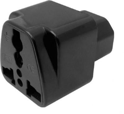 PAC IEC 320 C14 Male Plug to Universal Female Jack AC Power Worldwide Adaptor Black