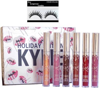Pro longwear combo Eyelashes,Kylie Holiday Collection Limited Edition Mini Kit - Matte Liquid 6 Lipgloss(Set of 2)