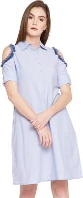 Rare Women Shirt Blue Dress