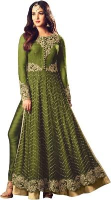 Ap Enterprise Net Embroidered, Embellished Semi-stitched Salwar Suit Dupatta Material
