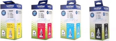 Brother BT 6000BK, 5000C, 5000Y, 5000M, Brother T300 / T500 / T700 Pack Of 4 Multi Color Ink Cartridge(Magenta, Yellow, Cyan, Black)