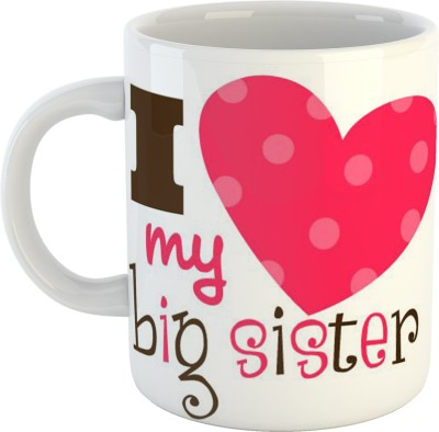 GiftOwl I Love My Big Sister Rakhi Raksha bandhan Ceramic Coffee 325 ml Rakhi/Raksha Bandhan Gift For Brother & Sister Ceramic Mug(325)