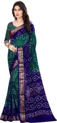 Concepta Self Design Bandhani Cotton Blend, Art Silk Saree Multicolor Concepta Women's Sarees