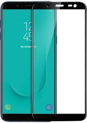VaiMi Tempered Glass Guard for Samsung Galaxy J6 ( Full Glue , No Rainbow Shadow )