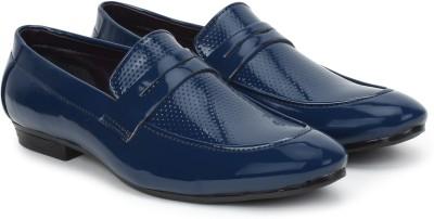 BUWCH Buwch Blue Loafer For Men Party Wear For Men Blue BUWCH Formal Shoes