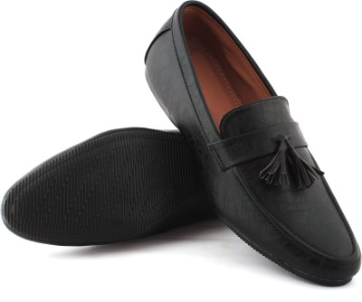 Greenfoot Leather Look Loafers For Men(Black)
