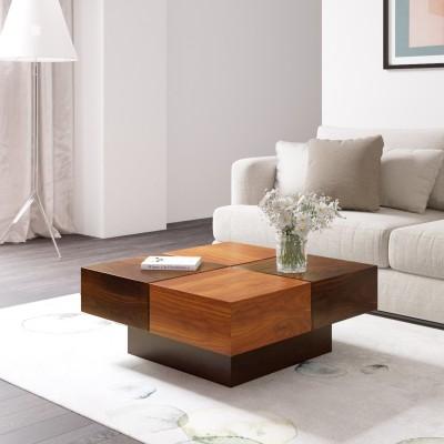 Flipkart Perfect Homes PureWood Mango Coffee Table(Finish Color - Dark Walnut)
