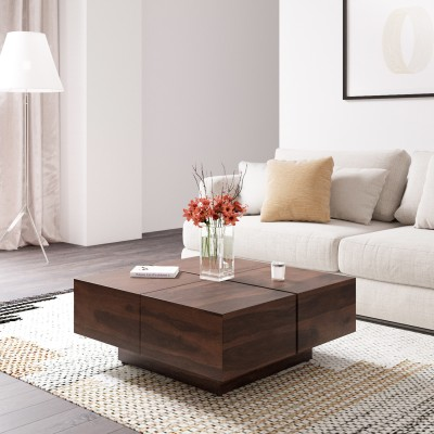 Flipkart Perfect Homes PureWood Sheesham Coffee Table(Finish Color - Honey)