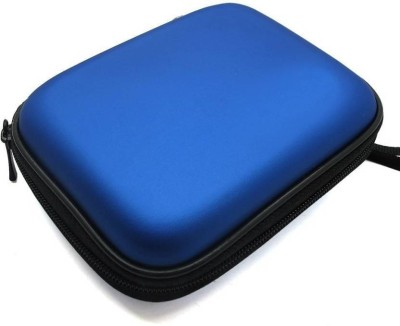 360Mart Blue Hard Disk Case cover 2.5 Pouch(For External Hard Disk 2.5 Inch, Hard Disk Cover, Blue)