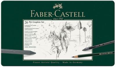 Faber-Castell 112974-26 Pitt Graphite Set Pencil(Set of 26, Green)