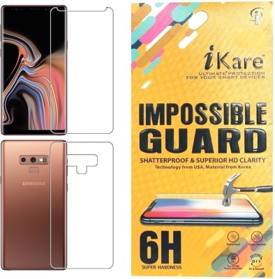iKare Front and Back Screen Guard for Samsung Galaxy Note 9(Pack of 1)