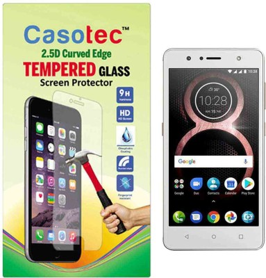 Casotec Tempered Glass Guard for Lenovo K8(Pack of 1)