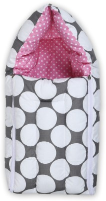 Miss & Chief Baby Polka Grey and Pink Sleeping Bag(Grey)