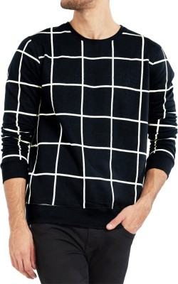 Rebound Full Sleeve Checkered Men's Sweatshirt