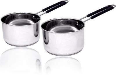 bartan hub Induction bottom saucepan set Induction Bottom Cookware Set Stainless Steel, 2   Piece bartan hub Cookware Sets
