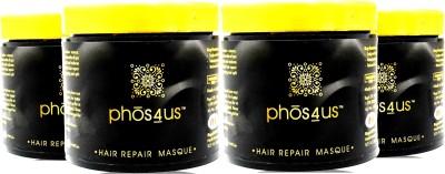 phos4us Hair Repair Masque / Mask (Pack of 4) Hair Spa Cream(400 ml)
