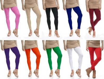 Comix Legging(Dark Green, Black, Orange, Pink, Solid)