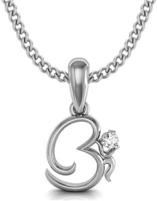 Avsar Om 18kt Diamond White Gold Pendant