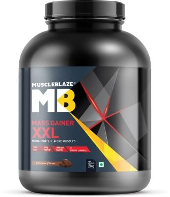 MuscleBlaze Mass Gainer XXL (Chocolate, 2 Kg / 4.4 lb) Weight Gainers/Mass Gainers(2 kg, Chocolate)