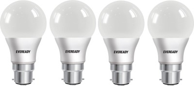 Eveready 7 W Round B22 LED Bulb White, Pack of 4 Eveready Bulbs