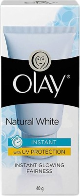 Olay Natural White Instant Glowing Fairness With Uv Protection 40gm