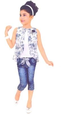 390e41783d26 30% OFF on Hey Baby Girls Casual Top Capri(Blue) on Flipkart ...