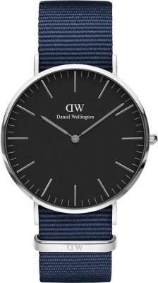 Daniel Wellington DW00100278 Classic Black Bayswater 40mm Silver Analog Watch  – For Men