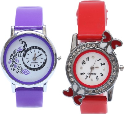 NEUTRON Modern Stylish Purple And Red Color Combo Watch (G21-G101) For Girls And Women Watch  - For Women