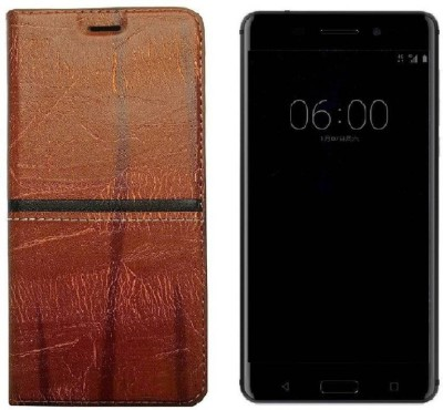Mozette Book Cover for Samsung Galaxy A6 Plus Crystal Brown