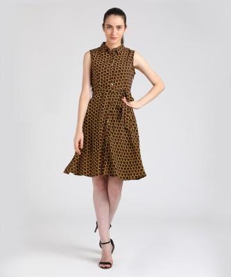 Tokyo Talkies Women A-line Brown Dress