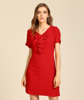 AND Women Shift Red Dress