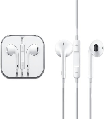 Buy Genuine 100% Generic Ear Pods & Earphone For 4/ 4S/ 5/ 5S/ 6/ 6S With Mic and Sound Control Wired Headset with Mic(White, In the Ear)