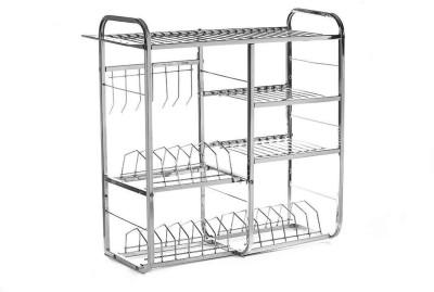 About the Fit Wall Mount Kitchen Dish Rack Plate Cutlery Stand / Kitchen Utensils Rack / Modern Kitchen Storage Rack Stainless Steel Kitchen Rack(Steel)