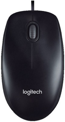 Logitech M100R Wired Optical Mouse(USB, Black)