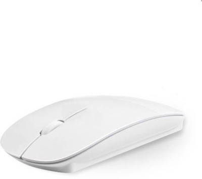 TECHON Ultra Slim Wireless Optical Mouse USB, White