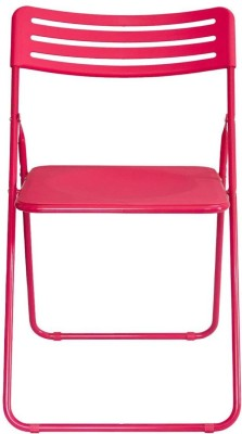 Gadget-Wagon Multipurpose foldable light weight Metal Cafeteria Chair(Finish Color - Pink)