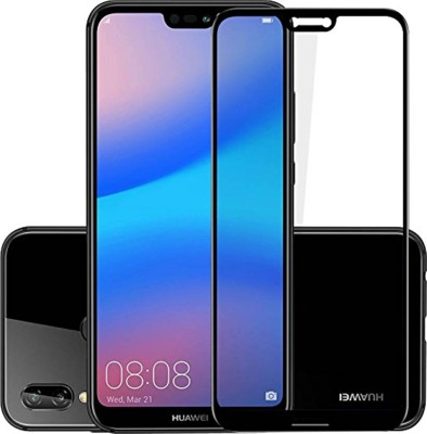 Tarkan Tempered Glass Guard for Huawei P20 Lite Premium Curved Anti Burst Tempered Glass Screen Protector (Carbon Black)(Pack of 1)