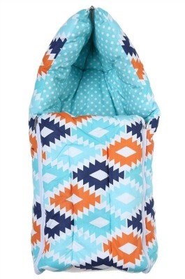 Miss & Chief Aztec Orange Aqua Navy Reversible Baby Sleeping Bag(Multicolor)