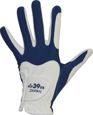 Fit39 EX Golf Gloves (XL, White, Blue)
