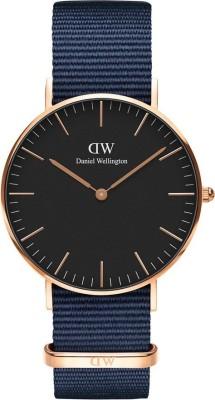 Daniel Wellington DW00100281 Classic Black Bayswater 36mm Rose Gold Analog Watch  – For Women