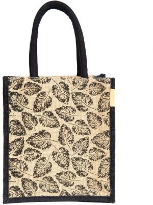 H B unisex multipurpose reusable jute bag Waterproof Lunch Bag Beige, 5 L H B Bags, Wallets   Belts