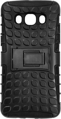 VAKIBO Back Cover for Samsung Galaxy J5 - 6 (New 2016 Edition)(Black Matte Rugged Armor Anti Shock Durable Anti Scratch Dual Layer, Dual Protection, Rubber, Plastic, Silicon)