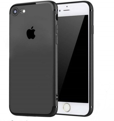 AM7 Back Cover for Soft Silicon Logo Cut Back Cover Case, With Anti Dust Plugs for iphone 6 / 6s(Black, Flexible Case)