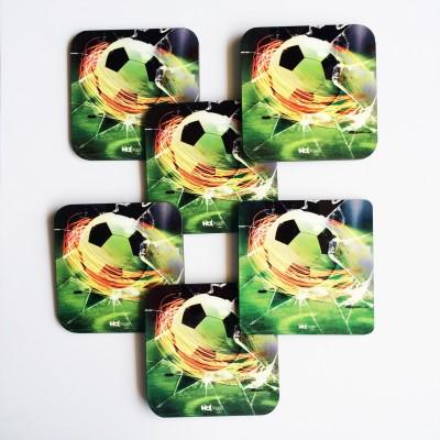 Hot Muggs Square Wood Coaster Set(Pack of 6) at flipkart