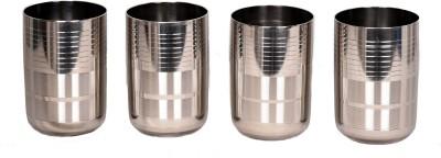 LiMETRO Stainless Steel G5-4 Glass Set(Steel, 350 ml, Steel, Pack of 4)
