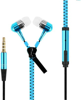 celltool Mobile Phones ZIPPER-BLUE-8902 Wired Headset with Mic(Blue, In the Ear)