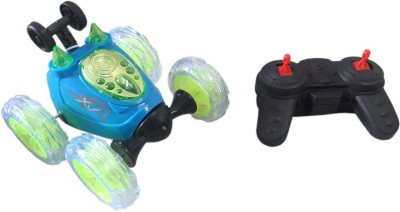 Green Apple Ultimmate SpiderMan Remote controlled 360 Stunt Car(Blue & Green)(Blue) Flipkart