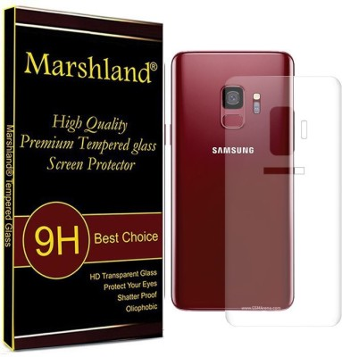 Marshland Back Tempered Glass for Samsung Galaxy S9 Plus 3D Full Curved Edge Screen Protector Guard (Transparent)(Pack of 1)