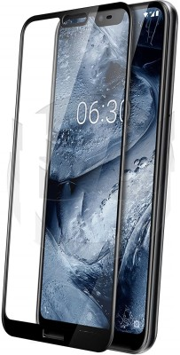 Caseline Edge To Edge Tempered Glass for NOKIA 6.1 PLUS (NOKIA X6 PLUS)(Pack of 1)