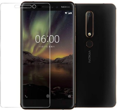 DSCASE Tempered Glass Guard for Nokia 6.1 Plus(Pack of 1)